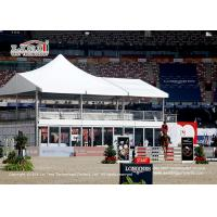 Wholesale Flame Retardant 10x20m High Peak Double Decker Tent with Glass Wall for Horse Racing Event from china suppliers