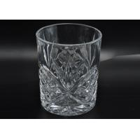 Wholesale 313ml Leave Pattern Embossment Clear Votive Glass Candle Holders Replacement Candle Jar from china suppliers