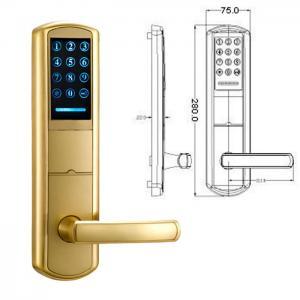 Wholesale High Security Zinc Alloy Door Handle Lock Smart Key Password intelligent Door Lock from china suppliers
