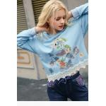 China New Latest Fashion Design Women's Fleece Pullover Sweatshirt with Emboridery for sale