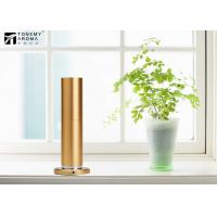 Wholesale 200m³ Aluminum Alloy Desktop Scent Diffuser Machine Cylindrical Design In Gold Color from china suppliers
