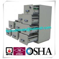 Wholesale Lockable Fireproof Storage Cabinets , 4 Drawer Fireproof File Cabinet For Paper /  Disc from china suppliers