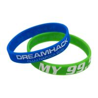 China Custom Ink - Filled Silicone Bracelets Sport Event Rubber Wristbands for sale