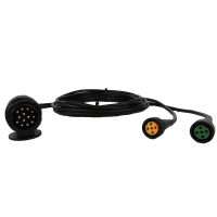Buy cheap Curly Flex 9 Pin To 2*5 Pin Trailer 12v Coiled Power Cable from wholesalers