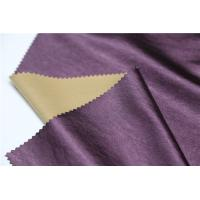 Wholesale Shining Synthetic Leather Material , 0.4mm Leather Look Polyester Fabric from china suppliers