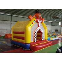 Wholesale 0.55mm PVC Tarpaulin Clown Inflatable Backyard Jumping Bouncers / Moon Bounce from china suppliers