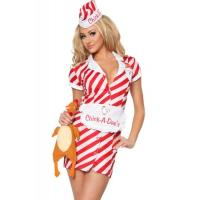 Wholesale Uniform Womens Sexy Costumes Air Hostess Pilo Cosplay White Red from china suppliers