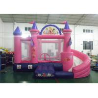 Wholesale 0.55mm Plato PVC Tarpaulin Pink Princess Bouncy Castle With Water Slide from china suppliers