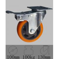 China Industrial total lock brake caster with top plate swivel ,4x1-1/4(100mmx32mm). on sale