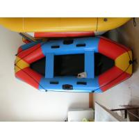 Wholesale 3 Person Inflatable Boat 280cm , PVC Colorful Inflatable Pontoon Raft For Children from china suppliers