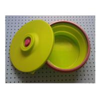 Quality large silicone lunch box collapsible ,fashionable silicone partable lunch bowl for sale