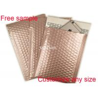 Wholesale Shipping Mailing Metallic Bubble Mailers Envelope Rose Gold 9 * 10 Inch Size from china suppliers