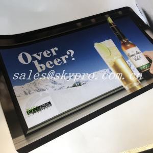 Buy cheap Hot selling nitrile fabric bar mat neoprene bar mats 3D OEM logo custom printing mat from wholesalers
