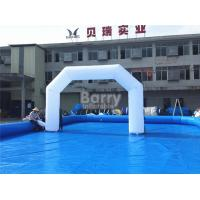 Wholesale White Giant Outdoor Promotional Inflatable Arch Support Well Finished from china suppliers