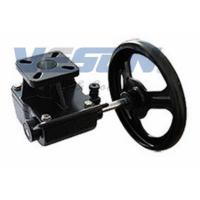 China Cast Iron Declutchable Manual Override Gearbox For Pneumatic Rotary Valve Actuators on sale