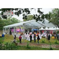 White PVC Roof Cover Outdoor Luxury Wedding Tents / Garden Party Marquee for sale