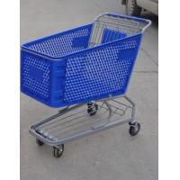 Wholesale Plastic Supermarket Shopping Carts , Color Powder Coating Shopping Trolleys from china suppliers