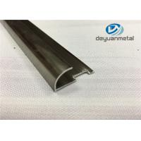 Wholesale 6063 T5 Round Aluminium Floor Strips Extrusion Profile With Polishing Champagne from china suppliers