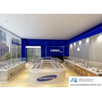 Wholesale Mobile phone Store interior fixture by metal display counter and glass showcase with acrylic Poster from china suppliers