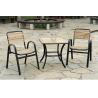 wicker/rattan/outdoor furniture wood, powder coating metal frame C602+T804 for sale