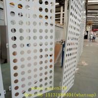 Wholesale aluminum powder coating white perforated metal sheet panels for walls from china suppliers