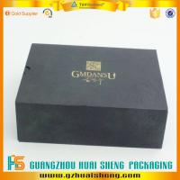 Buy cheap Cusrom Matte black rigid box with logo gold stamping from wholesalers
