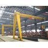 Yuantai single beam semi gantry crane,single girder gantry crane 10 ton for sale