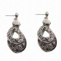 Wholesale Fashionable Stud Earrings in Double Water Drop Design from china suppliers