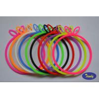 Decorative Silicone Rubber Bracelets For New Year Gifts Dia 7cm for sale