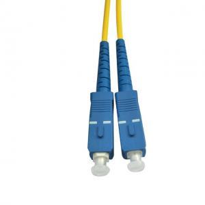 China UPC PVC FTTX SC To SC 9um Optical Fiber Patch Cord on sale