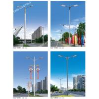China 9Meter powder coating steel outdoor conical parking area 40w luminaire street light with double arm bracket on sale