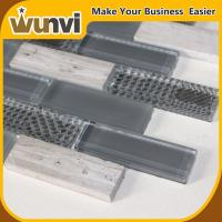 Quality Glass and Stone Strip Premium Mosaic Tiles,kitchens with backsplash tiles for sale