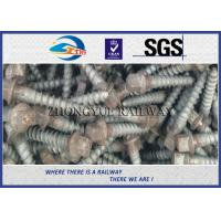 Buy cheap Oxide Black 4.6 Grade Railway Ss Series Sleeper Screw Spike With 35# Steel Material from wholesalers