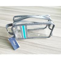 Wholesale Luxury Reusable Soft PVC Cosmetic Bag , Clear Makeup Bag With Hand Loop from china suppliers