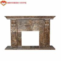 Wholesale Luxury Polished White Natural Stone Fireplaces , Limestone Fireplace Surround from china suppliers