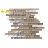 Wholesale Antibacterial Strip Glass And Metal Mosaic Tile For Kitchen backsplash from china suppliers