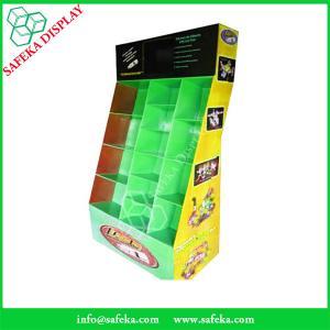 Quality Point of sale display ideas 12 pockets Custom cardboard floor display stand rack for sale