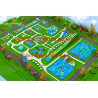 China 2017 Hot Sale Business Plan Outdoor Giant Commercial Frame Pool Type Land Inflatable Water Park For Kids And Adults on sale
