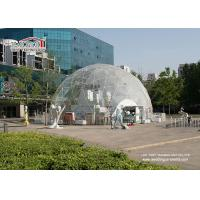 Wholesale Transparent PVC Cover Geodesic Dome Tents For Wedding / Party 100 - 10000 People from china suppliers