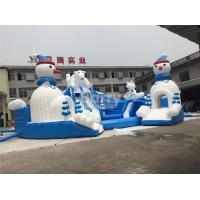 Wholesale Outdoor Amazing Bear Inflatable Water Park With Slide Blue And White from china suppliers