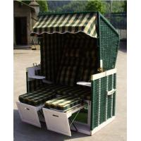 Wholesale Double Seat Roofed Wicker Beach Chair For Outdoor Garden Leisure from china suppliers