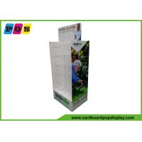 China Double Sided Cardboard Store Display , Plastic Pegs Cardboard Box Display For Shovel Gloves HD069 on sale