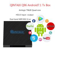 China Amlogic S905X2 Quad Core 2GB RAM 16GB ROM Q96 4K Android Smart TV BOX for sale