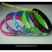 newest customized silicone wristband with full printing logo for promotion for sale