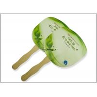 China Customized paper board wooden Hand Fans Round Square Green Traditional Style for sale