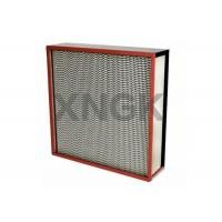 Wholesale High Temp Oven Hood Filter Flange Type , Class 100 99.99% @ 0.3 Micron Oven Vent Filter from china suppliers