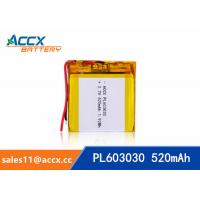 Wholesale 603030 3.7v 520mah lithium polymer battery for bluetooth speaker with PCM protection from china suppliers