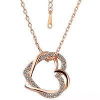 Wholesale Rose Gold Rhinestone Heart Necklace from china suppliers