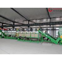 China 80KW Plastic Washing Equipment , PP PE Film Washing Line 300kg/H Capacity on sale