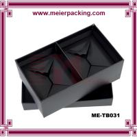 Wholesale Two set drink cups paper packaging box, black paper box for colored glass mug ME-TB031 from china suppliers